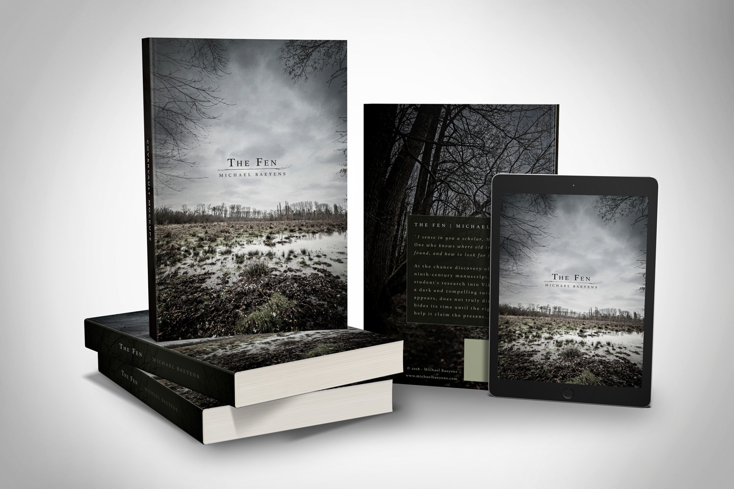 Greyclouds.be - Bert Blondeel | Design for print: photo and bookcover design - 'The Fen' by Michael Baeyens