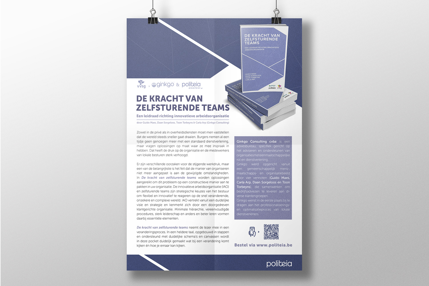 Greyclouds.be - Bert Blondeel | Design for print: Uitgeverij Politeia - add 'Zelfsturende teams'
