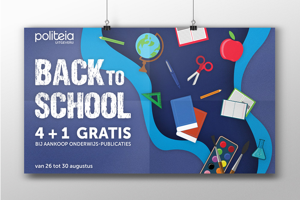 Greyclouds.be - Bert Blondeel | Design for print: Uitgeverij Politeia - poster 'Back to school'